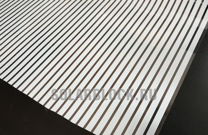 Пленка белая полоса 1 см