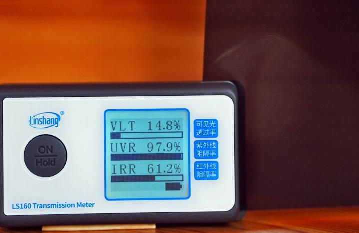 крашенный полиэстер + углерод пленка для автостекол 15%