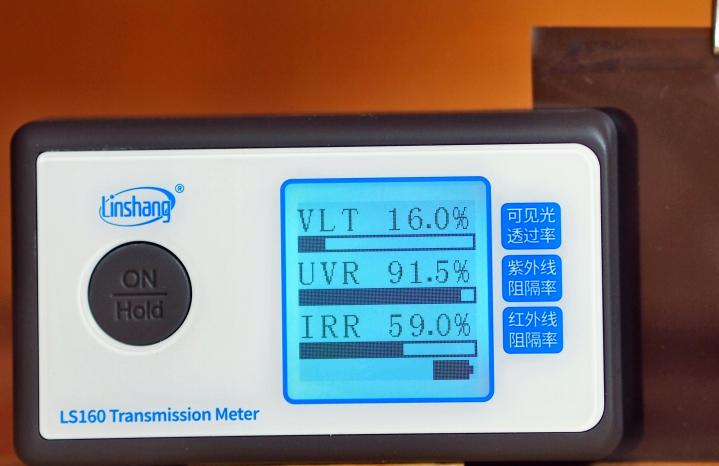Крашенный полиэстер + углерод пленка для автостекол 16%