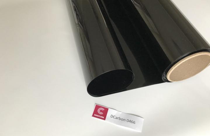 DCarbon 0466 крашенный полиэстер + углерод пленка для автостекол 4%