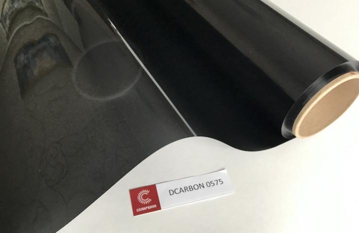 крашенный полиэстер + углерод пленка для автостекол 5%