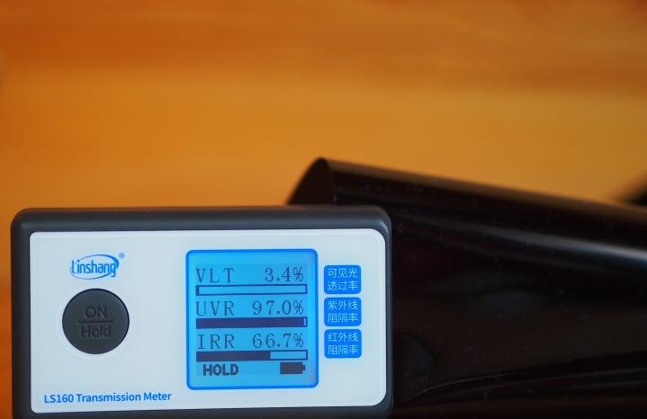 крашенный полиэстер + углерод пленка для автостекол 4%