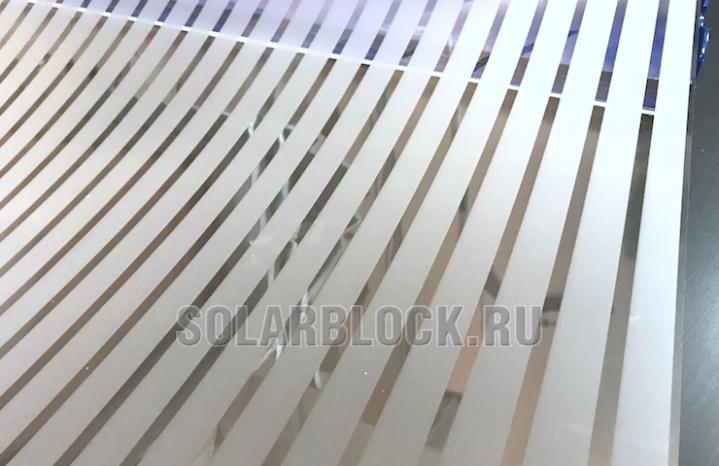 Пленка матовая полупрозрачная полоса 2 см
