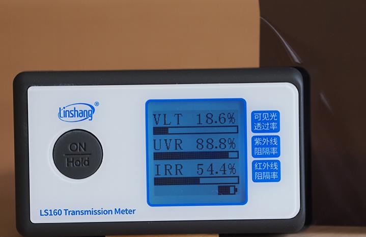 Крашенный полиэстер + углерод пленка для автостекол 20%