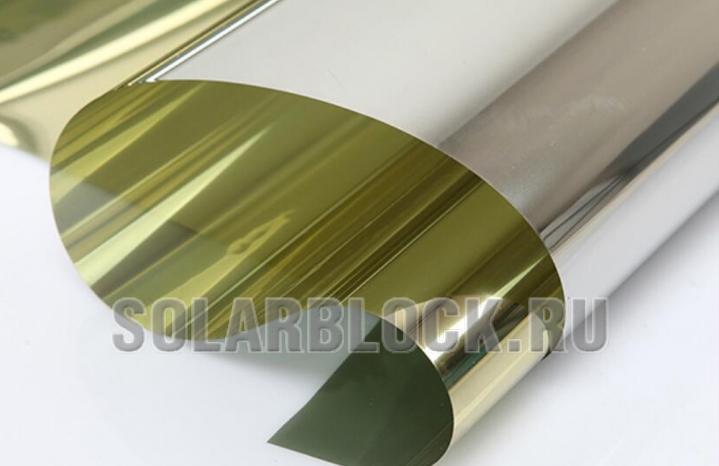 Зеркальная пленка Золото с 1-ой стороны (ширина 152 см)
