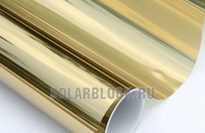 Зеркальная пленка Золото с 2х сторон (ширина 152 см)